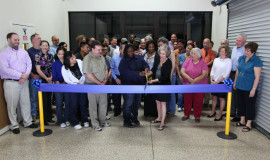 The expansion's ribbon cutting.